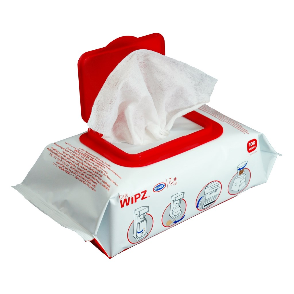 Urnex Cafe Wipz cleaning wipes